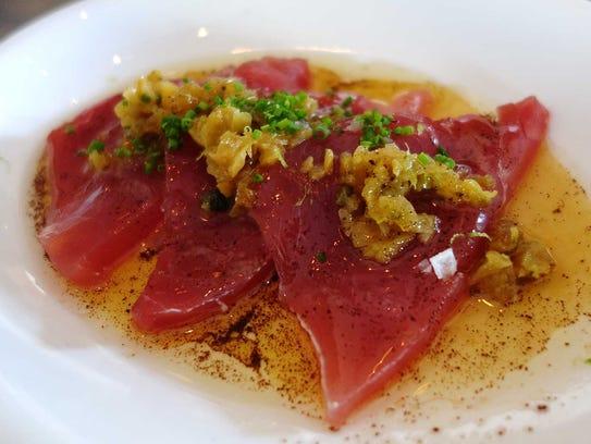 Chula yellowfin crudo with brown butter, fish sauce