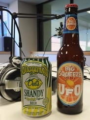 This week's samplers. Narraganset Del's Shandy and