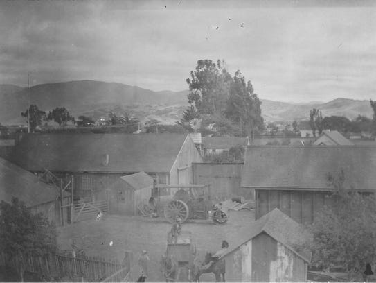 This undated photo shows some of the buildings in the