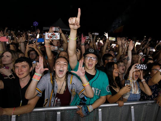 EDM fans cheer as Odesza perform at Festival Park at