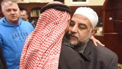 Well-wishers showing support after Imam Mohammad Qatanani,