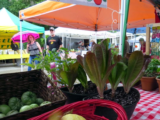 The Historic Newburgh Farmers' Market is open every Saturday morning rain or shine with booths of everything from fresh produce to kettle corn, bedding plants, home decor and jewelry beginning Memorial Day weekend.