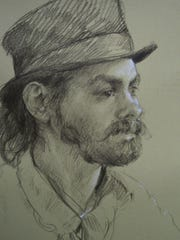 This drawing was one of the pieces of art stolen from Riverview Station.