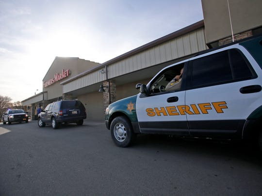 The San Juan County Sheriff's Office investigates a stabbing on Monday in Flora Vista. Police say a man with stab wounds was dropped off Monday afternoon at the Farmers Market grocery story in Flora Vista.