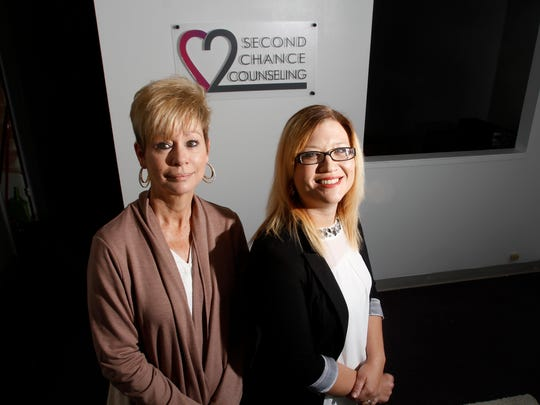 From left, Melissa Tarazon and Alisha Hawthorne-Martinez pose for a portrait on Friday at Second Change Counseling in Farmington. Hawthorne-Martinez has expanded the counseling service into a new office on Apache Street. She will work alongside Tarazon, an adult drug and alcohol abuse counselor.