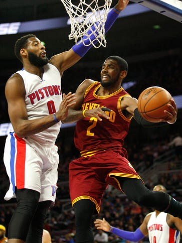 Cleveland Cavaliers guard Kyrie Irving (2) looks to