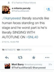 "Tweets from ""SNL"" anniversary."