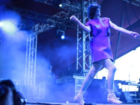 Yelle performs on the second Saturday at the Coachella