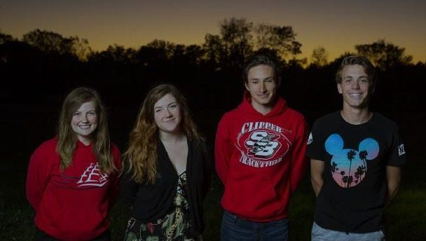 The four students chosen at Sturgeon Bay High School to participate in the Wisconsin Ambassadors of Music 2018 European Tour.