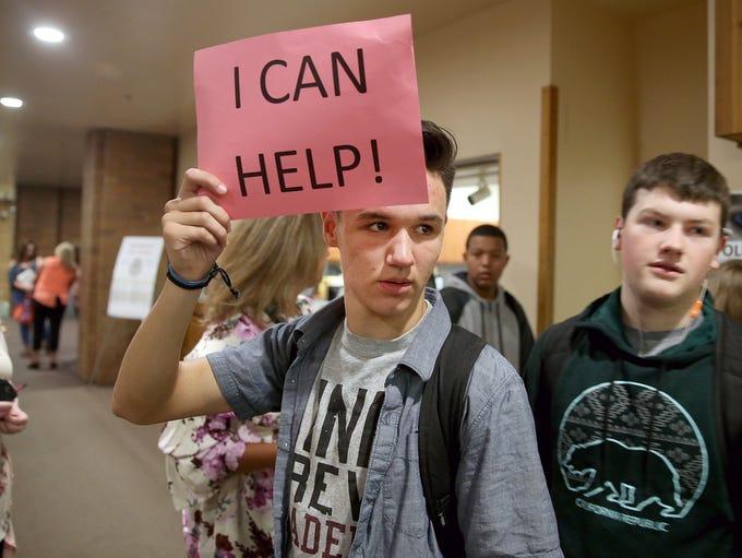 South Kitsap High School student Charlie Gatlin, 17,