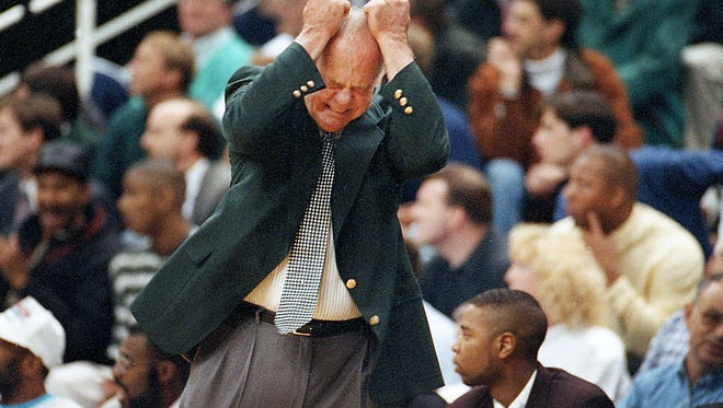 Former MSU head basketball coach Jud Heathcote during a 1995 game.