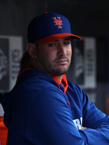 Matt Harvey pitches in a game for the first time since