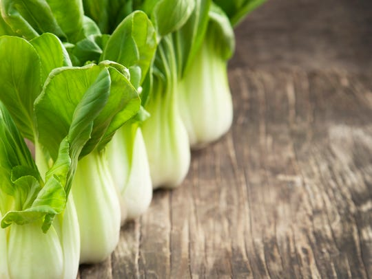 Foods that contain folic acid, such as bok choy, benefit