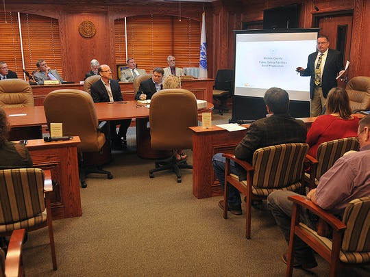 The Wichita County Commissioners hosted a public hearing Monday morning for a presentation from architectural firm HOK explaining the need for a new jail and law enforcement facility.