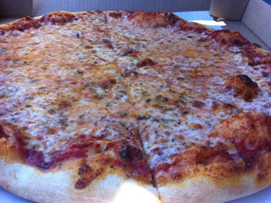 Cheese pizza from LaMotta's, a reader favorite in south Fort Myers.
