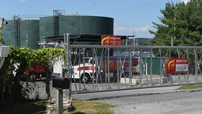 A Bottini Fuel truck fills up at the company's facility in New Hamburg on Sept. 13, 2016.
