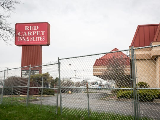 File photo of the Red Carpet Inn as crews gutted its 150 rooms in the spring of 2018.