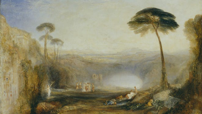 """A portion of Joseph Mallord William Turner's, """"The Golden Bough,"""" 1834, oil on canvas. From Tate Britain museum in London."""