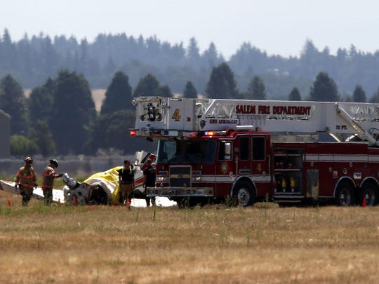 Salem Police and Fire Departments received calls at approximately 8:26 a.m. of a small plane crash north of the runway on the Salem airport grounds on Saturday, July 4, 2015. The NTSB will be investigating the fatal plane crash.