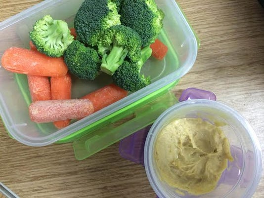 Cutting raw vegetables and keeping them in small containers make sit easy for me to grab a healthy snack.