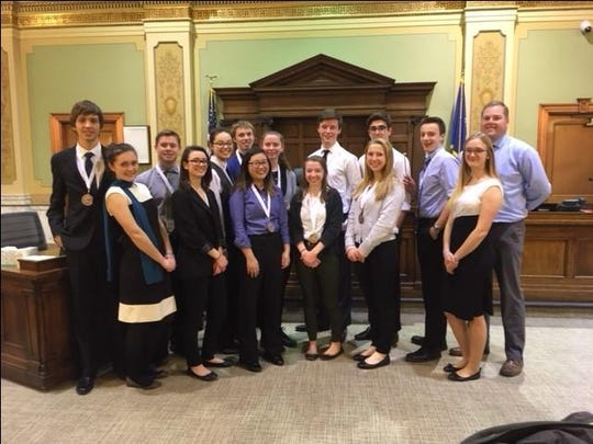 St. Mary High School participated in a Mock Trial and