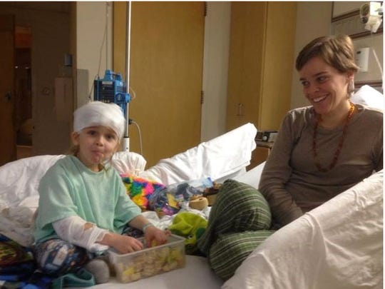 Garnett and Lacey Spears in his room at Nyack Hospital