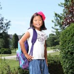 Lilly Harrison is ready for school in her ensemble from The Gap.