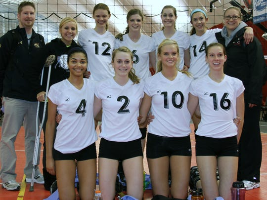 Sierra Hubbard-Neil (4) played for the Dead Frog Club Volleyball Team for three years in high school, and the team placed fifth at the AAU Nationals ahead of her sophomore year.