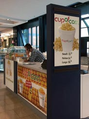 The Cup of Corn kiosk opened April 28 in the Circle