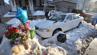 A makeshift memorial sprang up in January at a parking spot on Sherman Street in Passaic where a family of three died in a car of carbon monoxide poisoning.