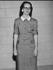 Coach Edna Mae Stovall was a coach for the 1958 Maidens