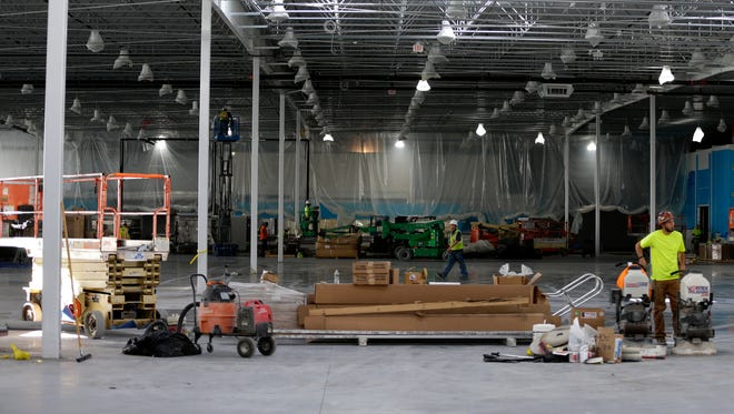 Construction continues Monday at Costco Wholesale on Integrity Way in Grand Chute.