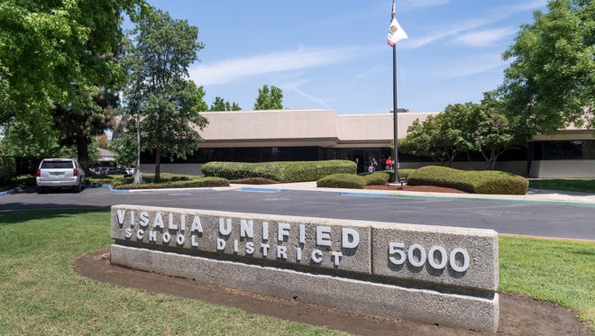 Visalia Unified School District offices on West Cypress Avenue in Visalia.