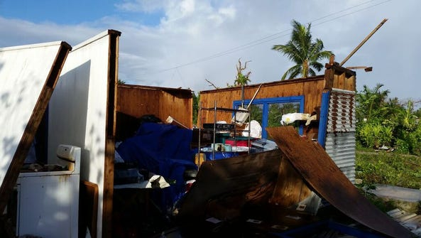 The island of Falalop, Ulithi in Yap was struck by