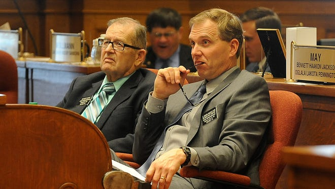Former state legislator Mark Mickelson (right) has been a vocal opponent of out-of-state influence on South Dakota's ballot initiative process.