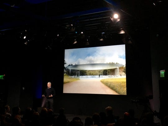 Apple CEO Tim Cook closed Monday's product unveiling