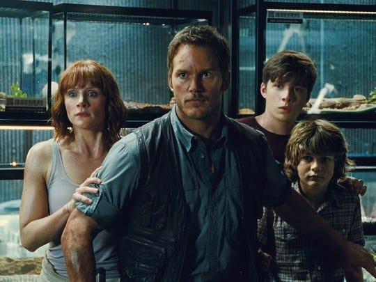 Bryce Dallas Howard, Chris Pratt, Nick Robinson star in the next installment of Steven Spielberg's groundbreaking 'Jurassic Park' series.