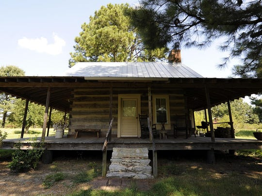 The Cabin in the Pines at Green Frog Farm in Alamo.
