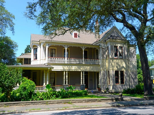 The historic Merritt-Rule House at 619 N. Baylen is currently a private residence.