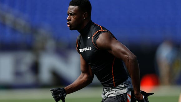 Bengals wide receiver A.J. Green warms up before a game Sept. 7.