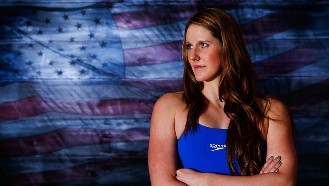 Team USA swimming athlete Missy Franklin poses for a portrait during the 2016 Team USA Media Summit at Beverly Hilton.