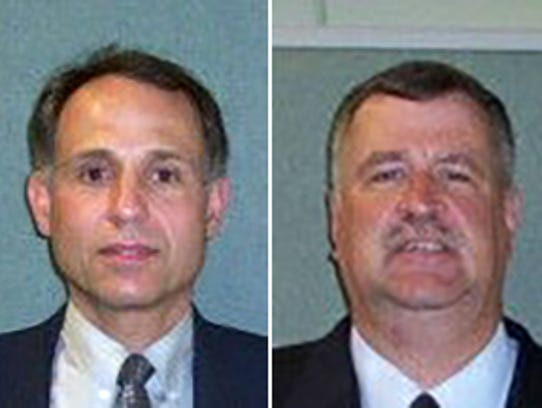 Bailiffs Joseph Zangaro, left, and Ron Kienzle were