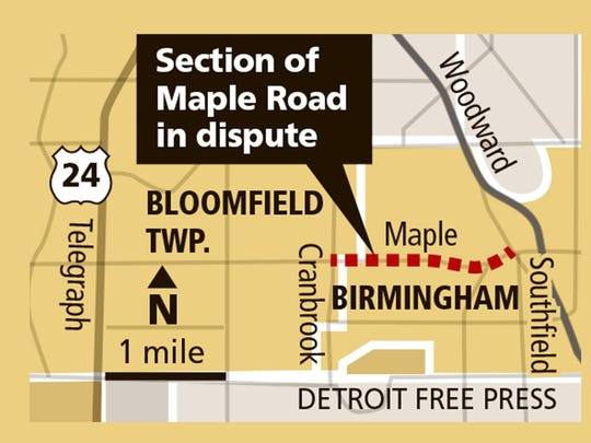 The road diet would slice a lane from West Maple Road,