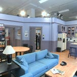 "A replica of the set from Jerry Seinfeld's apartment from the NBC sitcom ""Seinfeld,"" in New York."