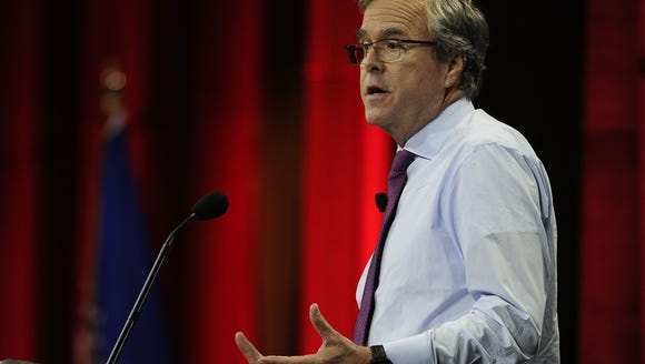 Former Florida Gov. Jeb Bush speaks at the NRA-ILA
