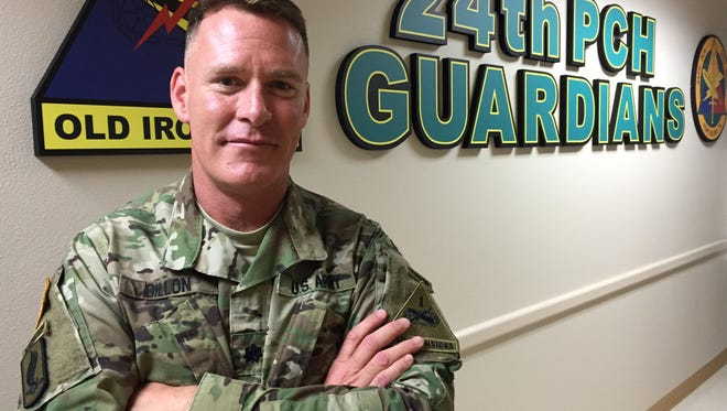 Lt. Col. Ryan Dillon has commanded the 24th Press Camp Headquarters for the past two years. He relinquishes command on July 15.