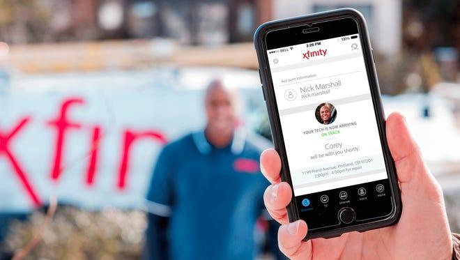 Comcast Tech ETA app feature