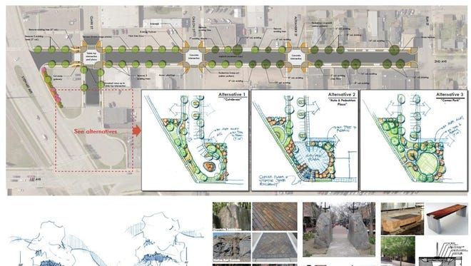 Architectural renderings of Second Avenue and Clark Street including reconstruction and streetscaping. Stakeholders have been talking about this project for years, and it may get started in 2016.