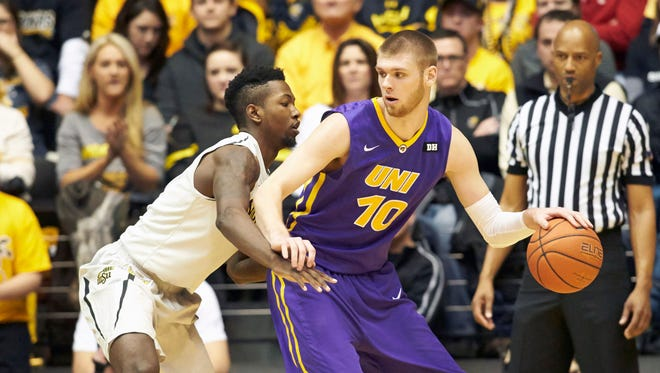 Seth Tuttle, right, is the Missouri Valley Conference's active leader in both scoring and rebounding. He helped the Panthers to a 27-3 regular-season record and was named the conference's player of the year on Tuesday.