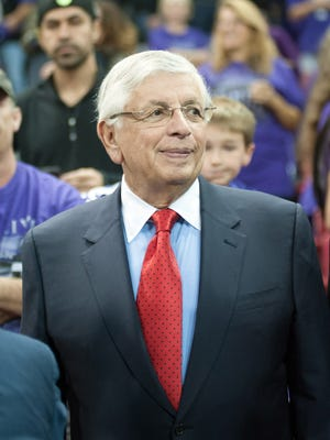 NBA Commissioner David Stern attended Wednesday's Kings game in Sacramento.